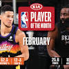 Devin Booker, James Harden named Kia NBA Players of the Month ...
