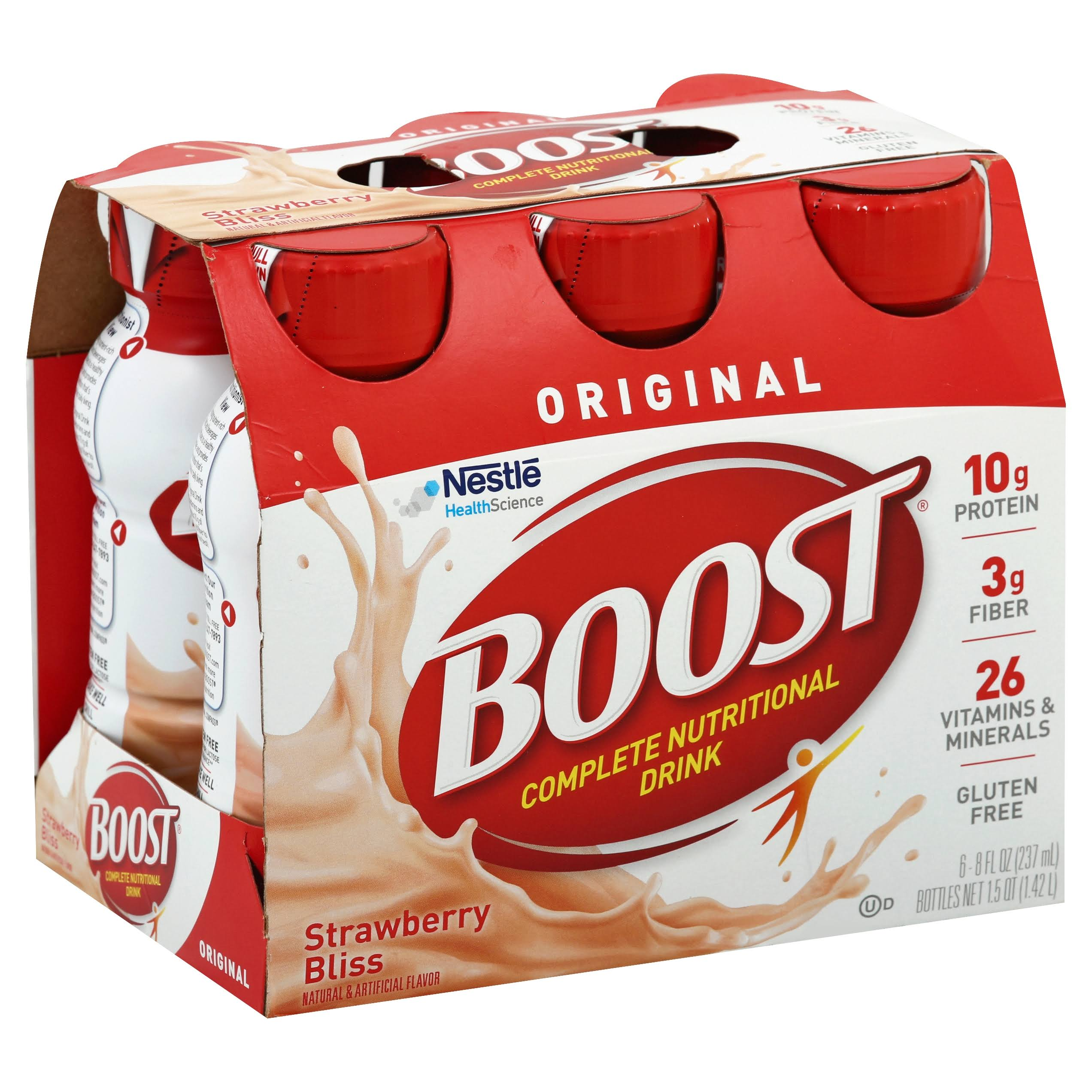 Boost Original Complete Nutritional Drink - Creamy Strawberry, 237ml, x6