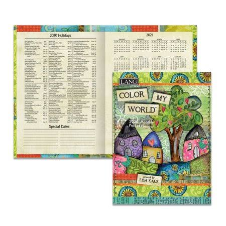 Lang Companies Color My World 2020 Monthly Pocket Planner