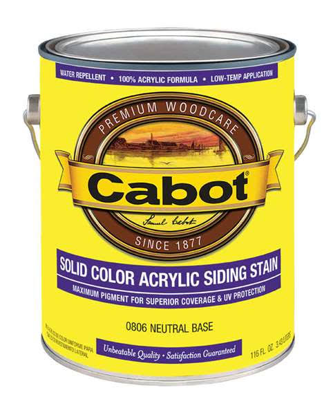 Cabot Solid Color Acrylic Siding Stain - Neutral Base