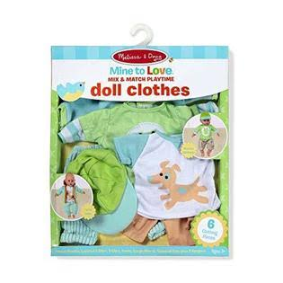 Melissa and Doug Mine to Love Mix and Match Playtime Doll Clothes