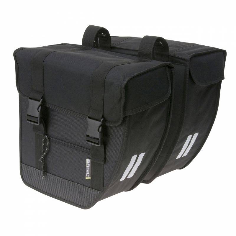 Basil Tour Rear Briefcase Double Pannier Bag | Black