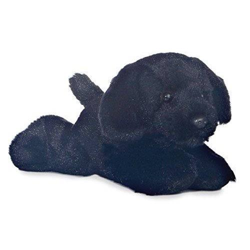"8"" Mini Flopsie Blackie Black Lab by Aurora"