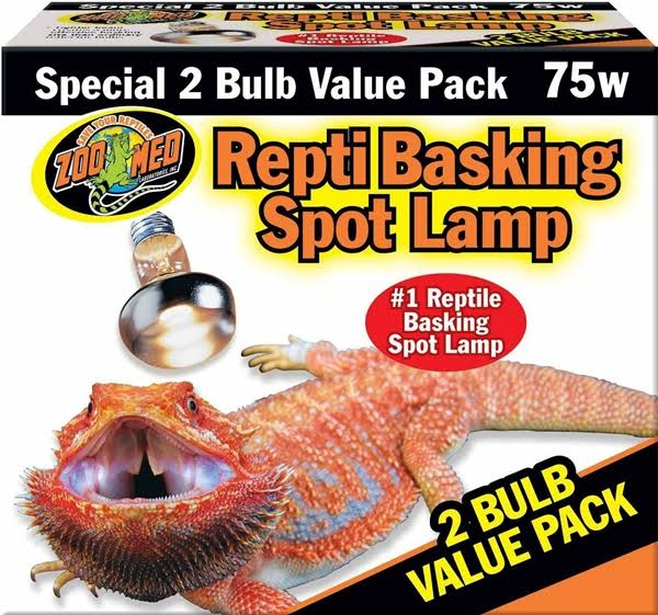 Zoo Med Repti Basking Spot Lamp - 75W, 2 Pack