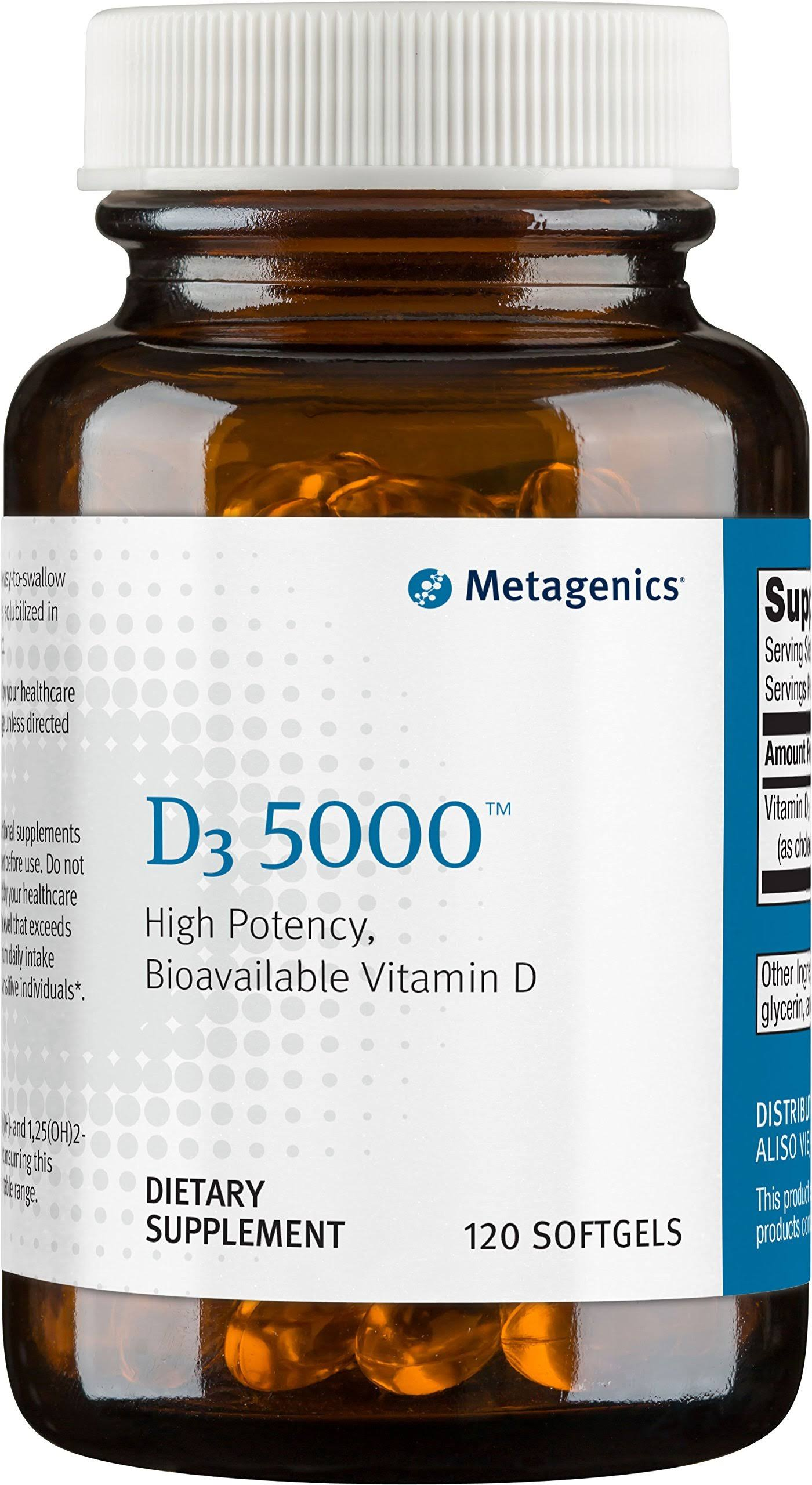 Metagenics D3 Bioavailable Vitamin D High Potency Supplemeant - 120 Count