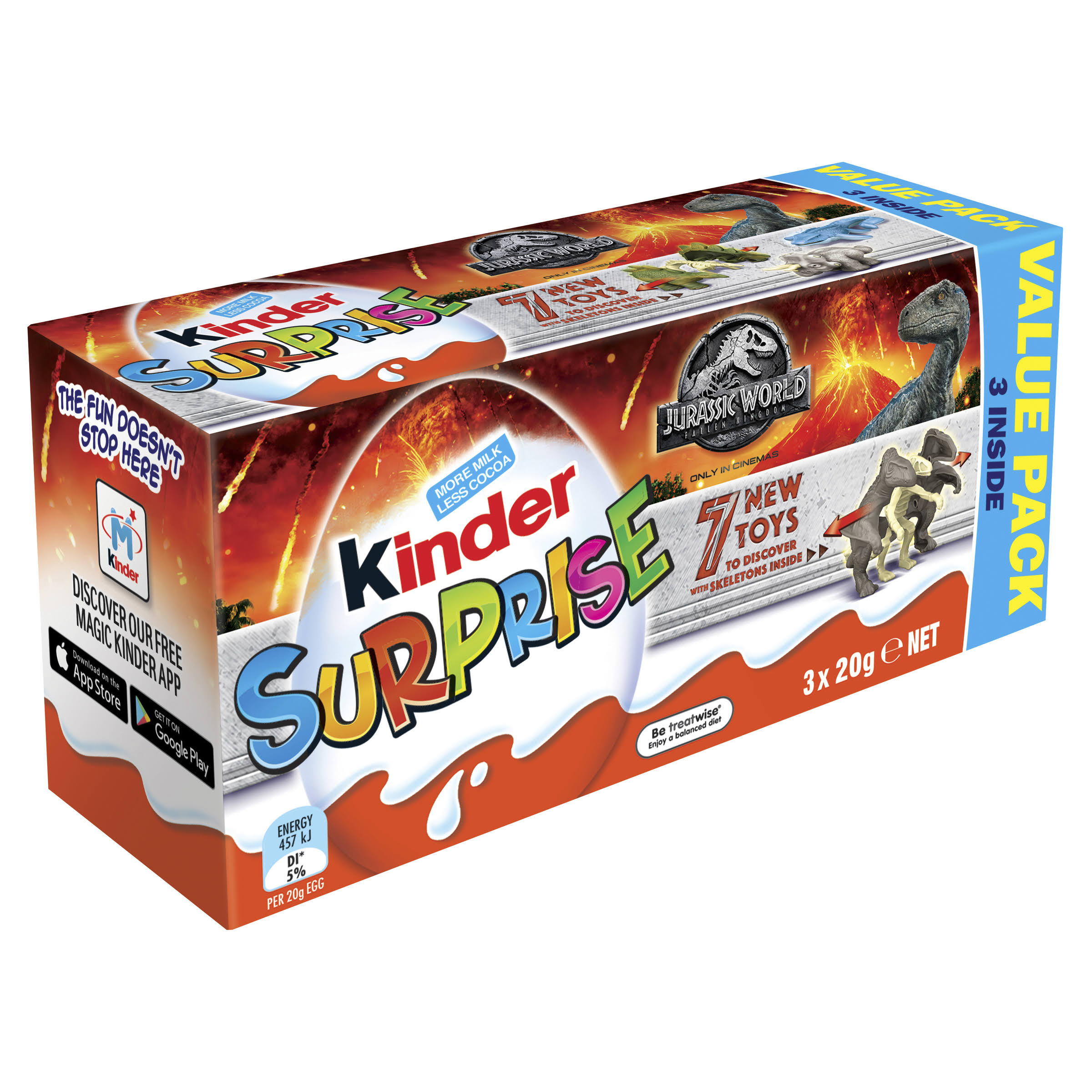 Kinder Surprise Chocolate Egg - 3 Pack