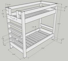 Wood Bunk Beds Plans by Simpler Bunkbed Diy But I Think Chris Wants Them To Be Able To