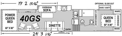 5th Wheel Toy Hauler Floor Plans by New Or Used Toyhauler Campers For Sale Rvs Near Denver