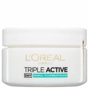 L'Oreal Paris Triple Active Day Moisturiser - Normal to Combination Skin, 50ml