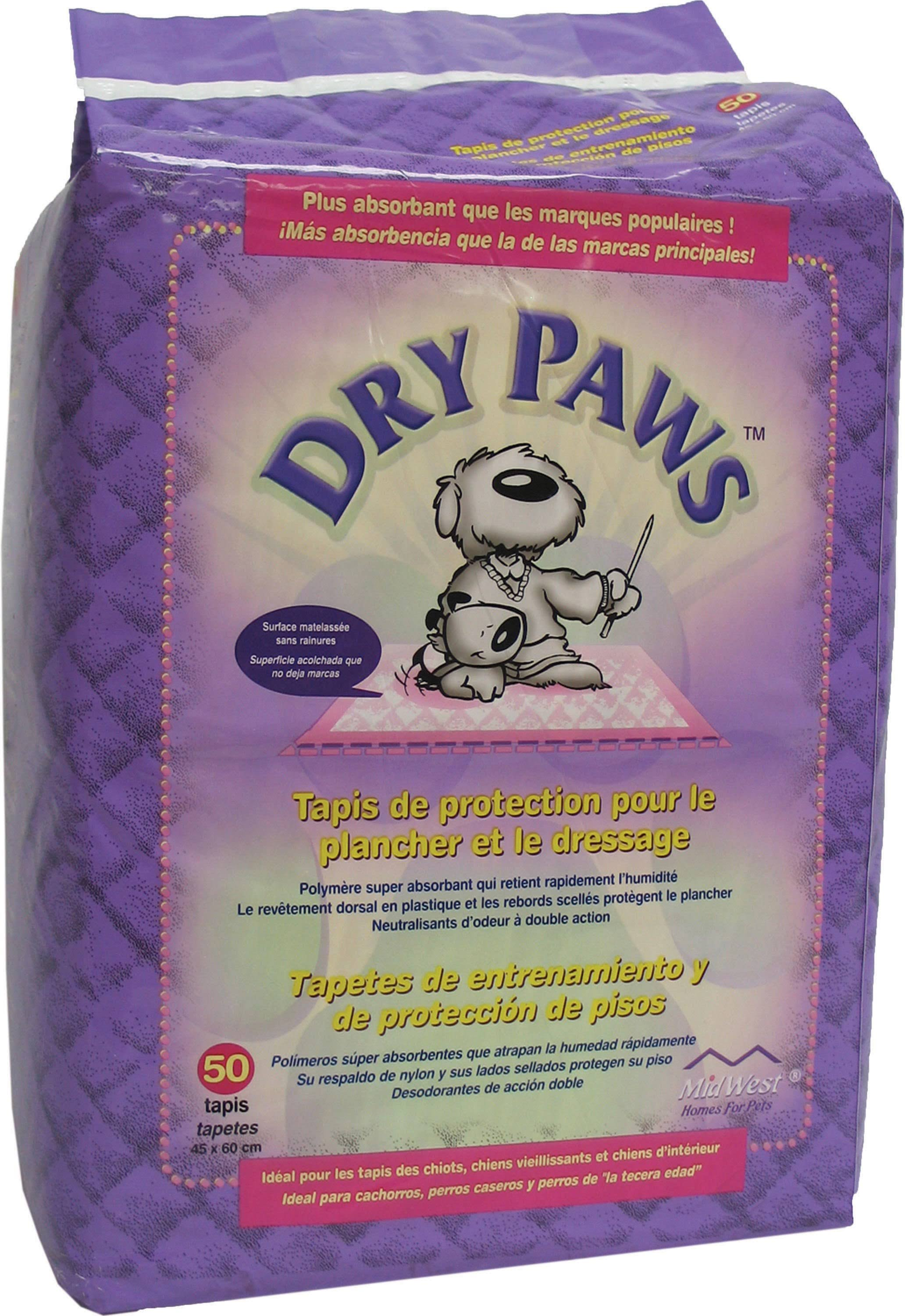 "MidWest Dry Paws Training and Floor Protection Pads - 23-5/8""x17-3/4"", 50pk"