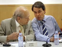 Jordi Pujo y Artur Más, máximos dirigentes de CDC