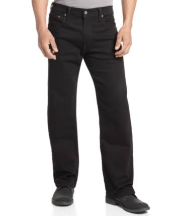 Levi's 569 Loose Straight Fit Men's Jeans - Black 36x30