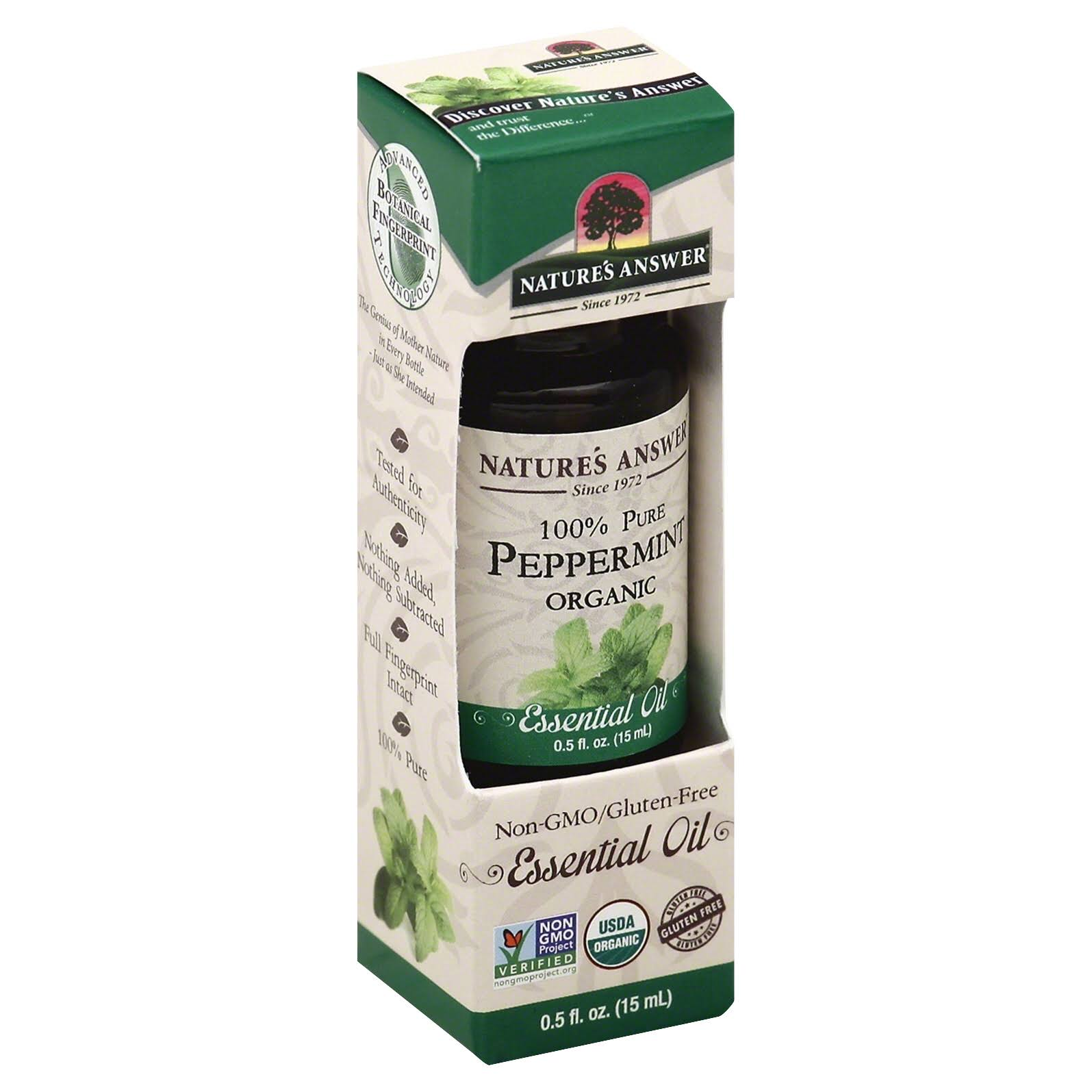 Nature's Answer Pure Peppermint Organic Essential Oil - 0.5oz