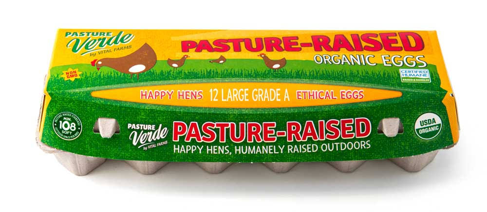 Vital Farms Pasture Raised Organic Grade A Eggs - Large, 12pcs