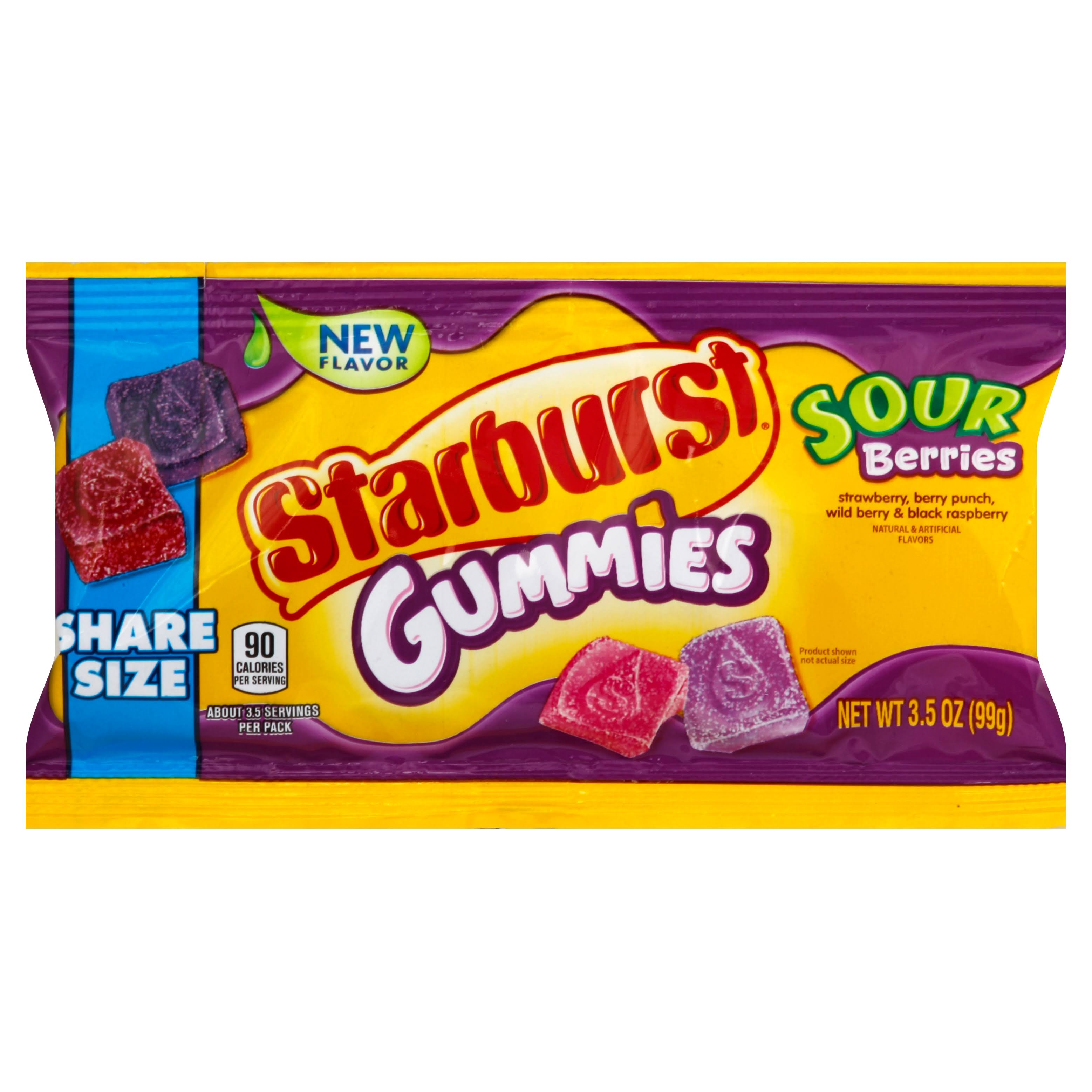 Starburst Gummies, Sour Berries, Share Size - 3.5 oz