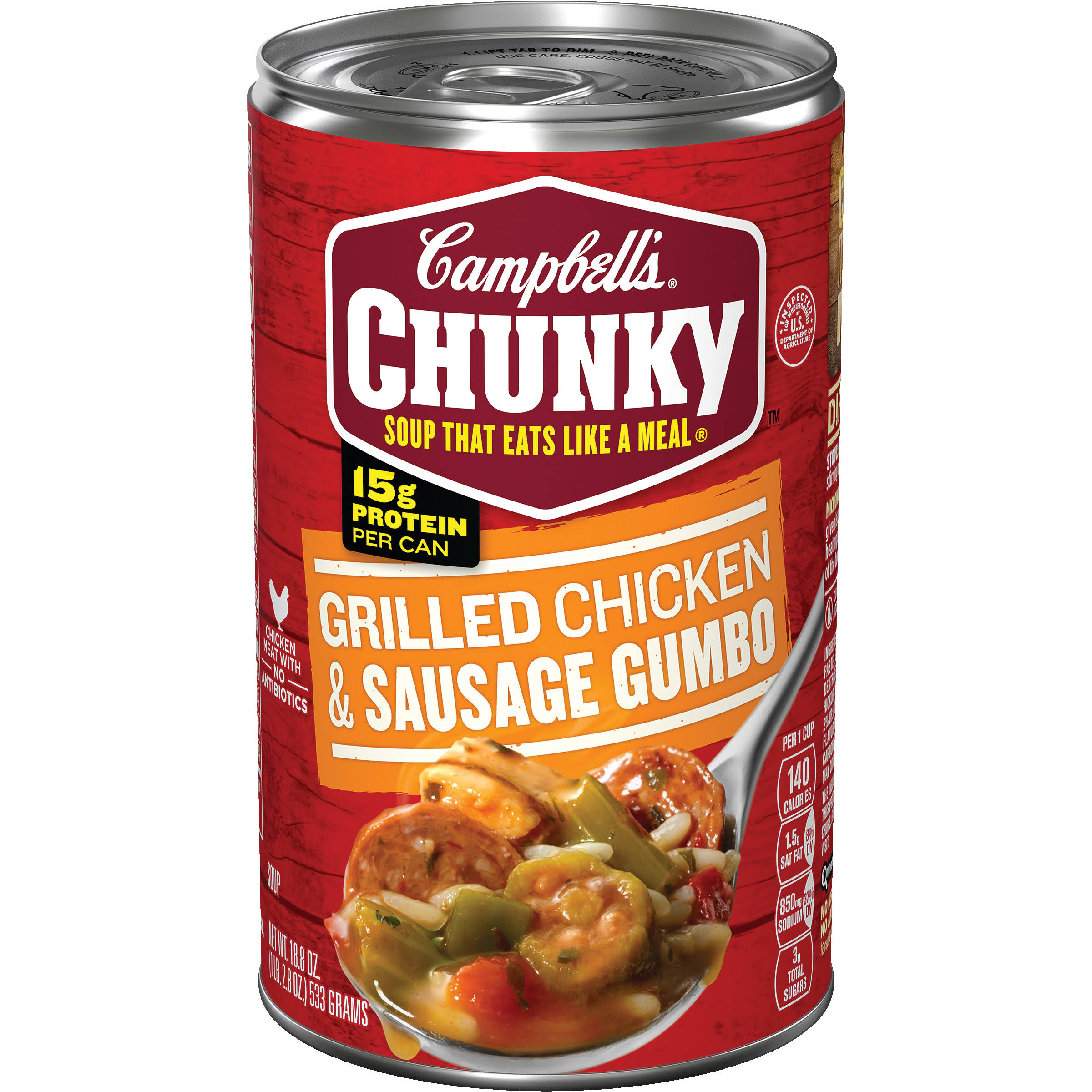 Campbells Chunky Grilled Chicken and Sausage Gumbo Soup - 18.8oz