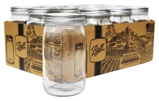 Ball Wide Mouth Smooth Sided Mason Jar with Lid - 32 Oz