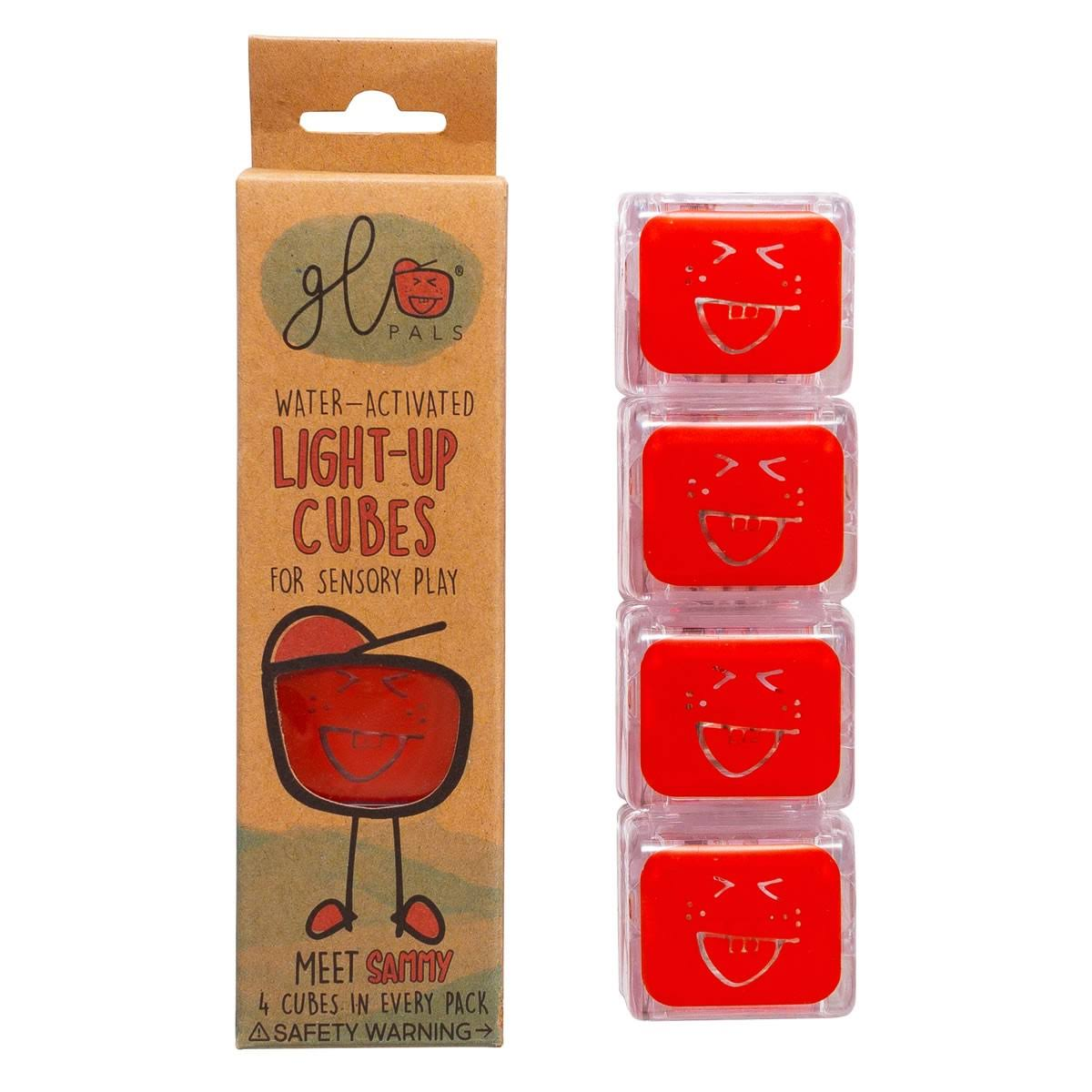 Glo Pals Light Up Water Cubes - Red