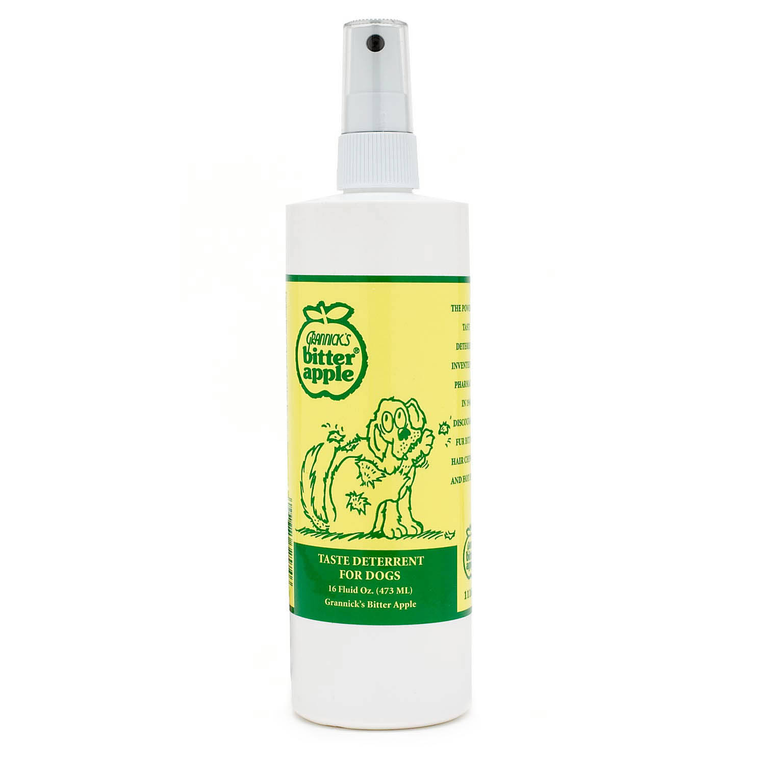 Grannick's Bitter Apple Taste Deterrent and Training Aid for Dogs - 16oz Spray Bottle