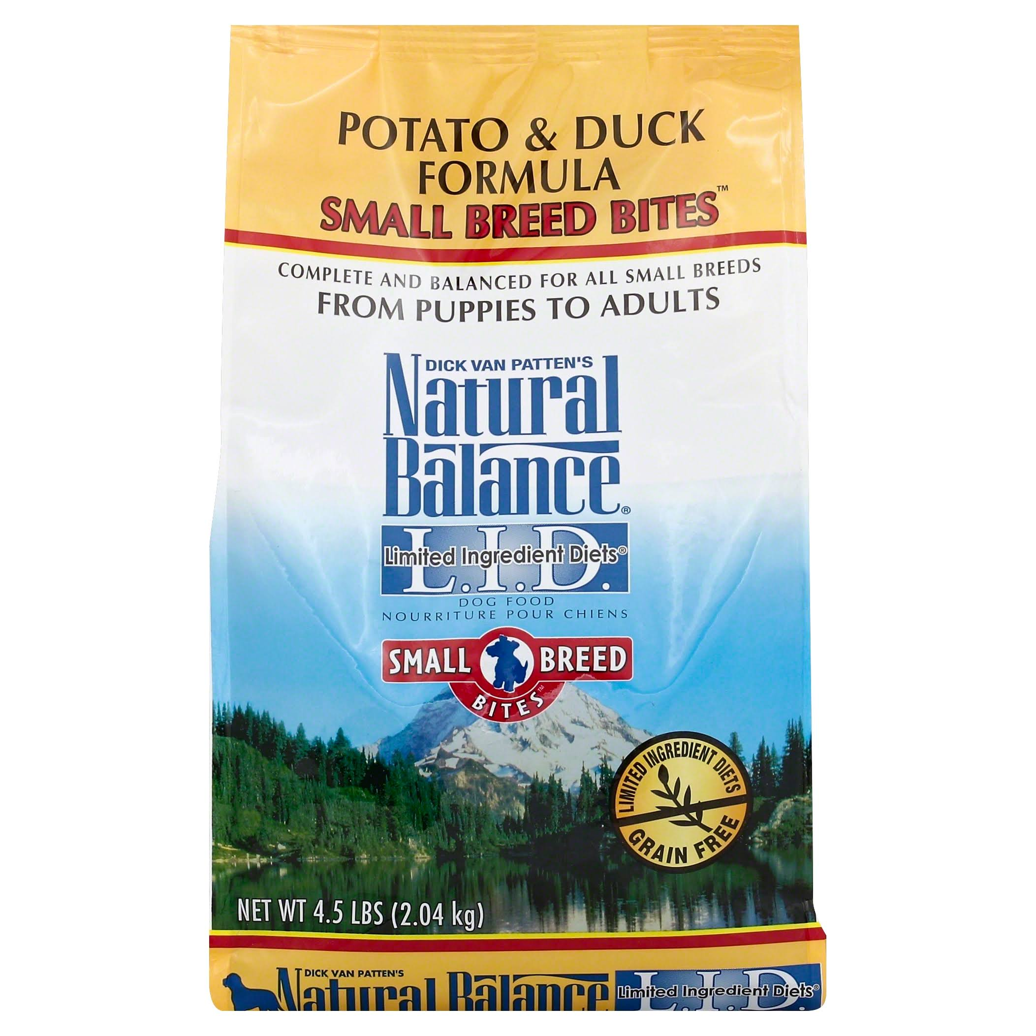 Natural Balance Small Breed Bites - Potato & Duck