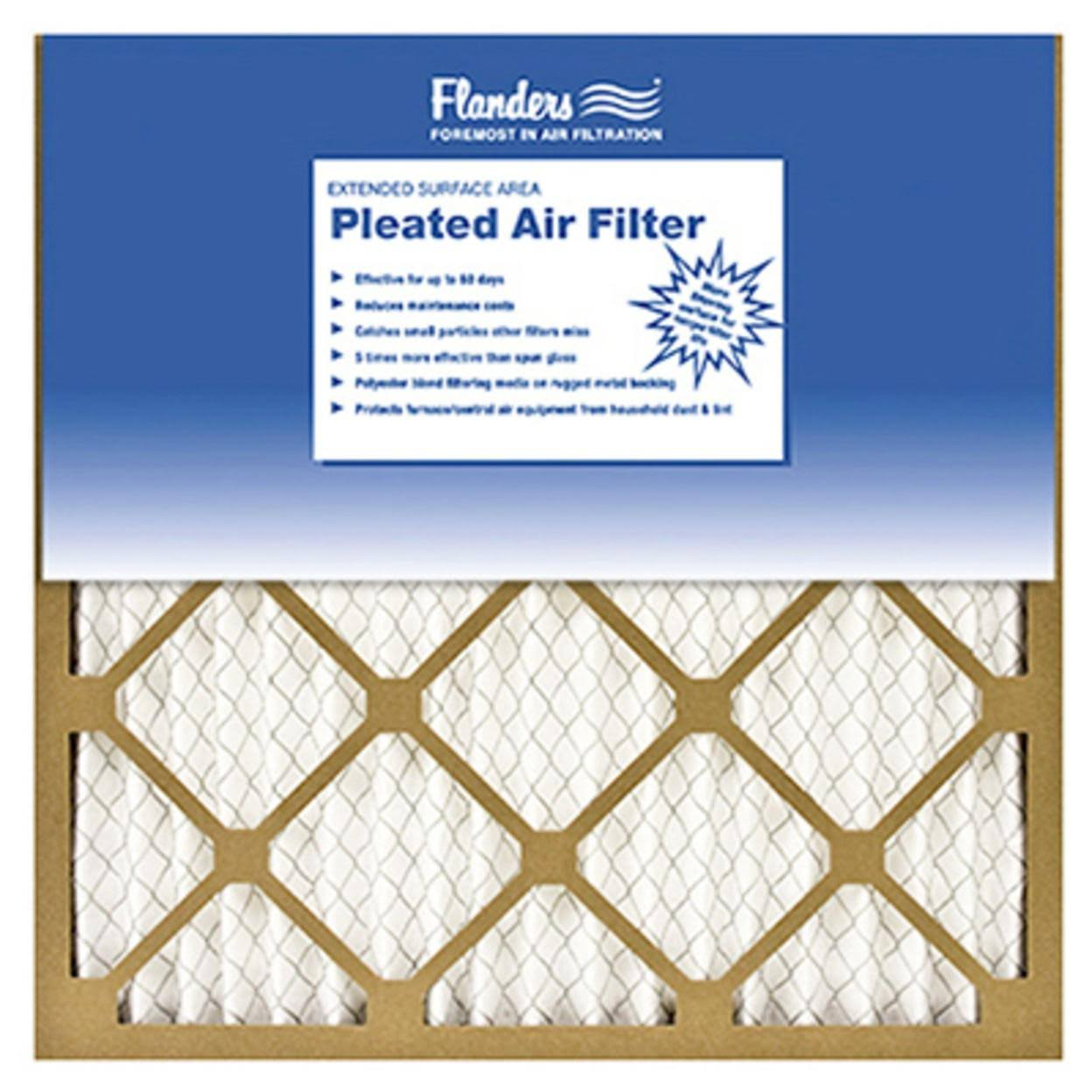 "Flanders Pleated Air Filter - 16""x16""x1"", 12pk"