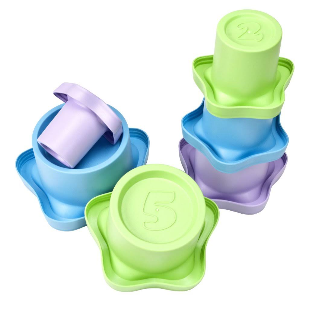 My First Green Toys Stacking Cups Baby Toy - for 6 Months up