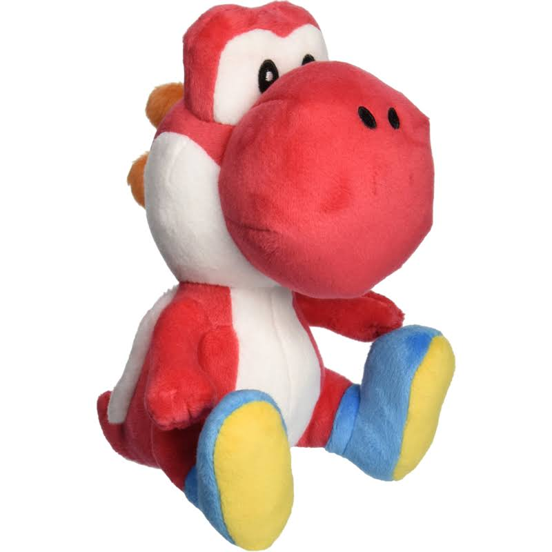 Nintendo Super Mario Bros Red Yoshi Stuffed Plush Toy - 6""