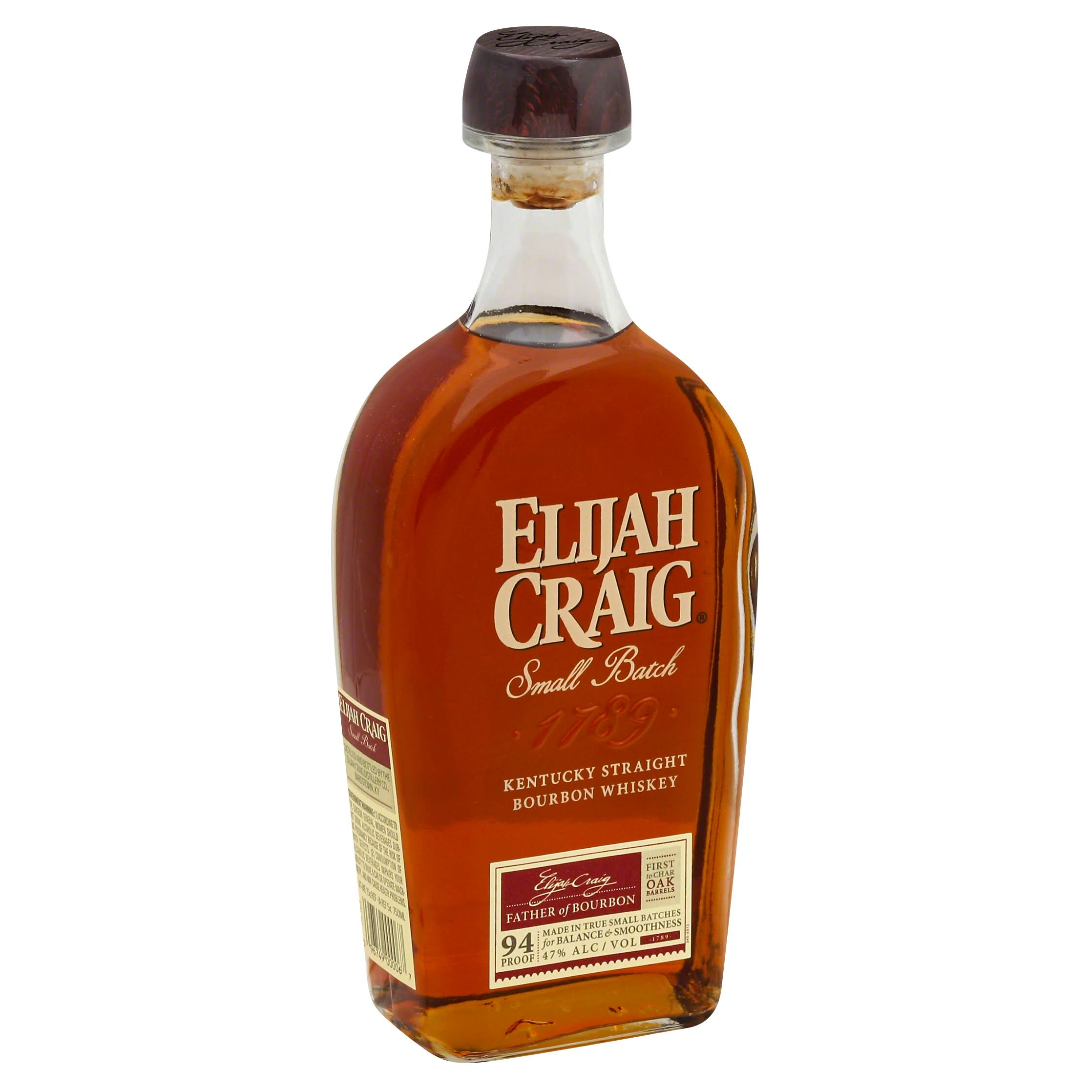 Elijah Craig 12 Year Old Small Batch Bourbon - 750 ml bottle