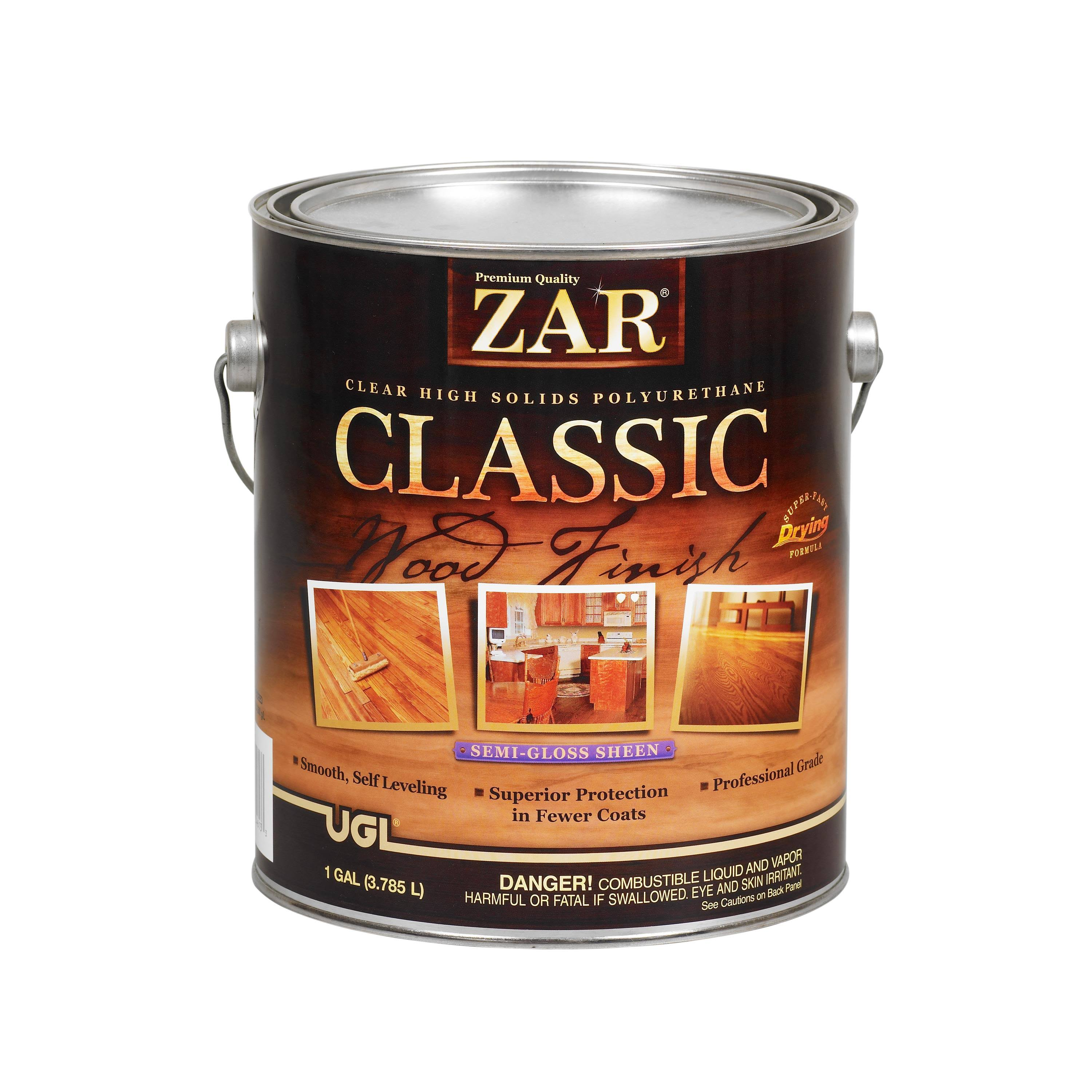 Zar Classic Wood Finish Oil-based Interior Polyurethane - Semi Gloss, 1 Gallon
