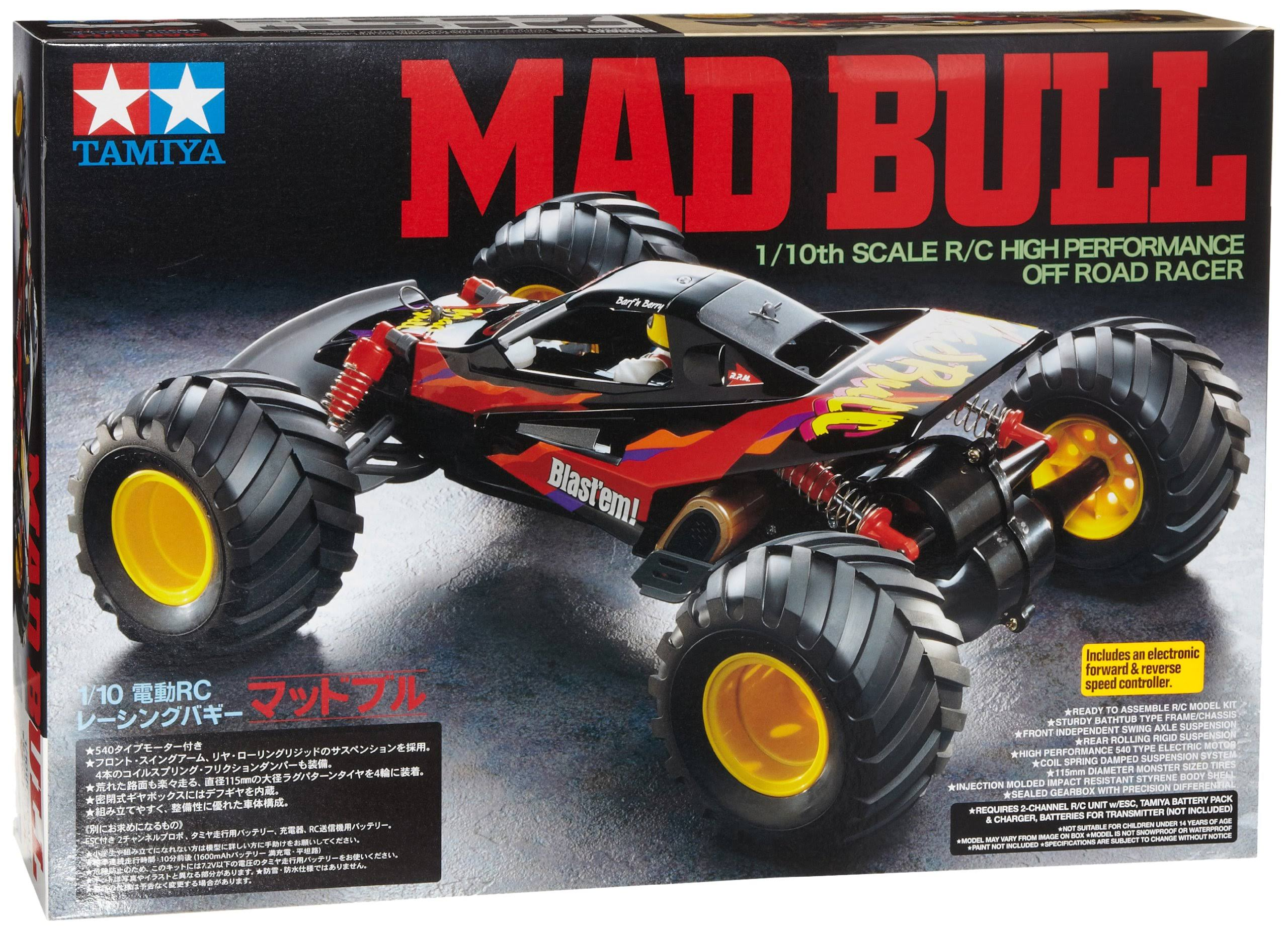 Tamiya Rc Model Mad Bull Buggy 2WD Kit - 1:10 Scale