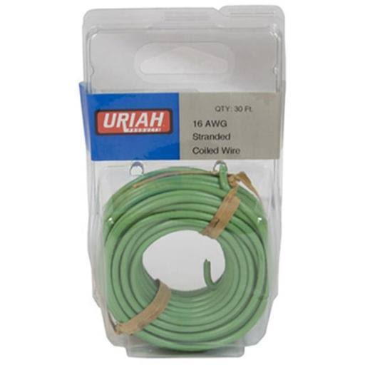 Uriah Products Primary Automotive Wire - Green, 30', 16 AWG