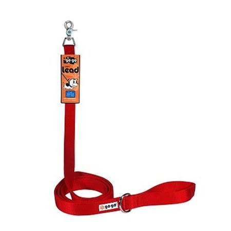 Go Go Pet Comfy Nylon Dog Leash - Red, 6' x 1""