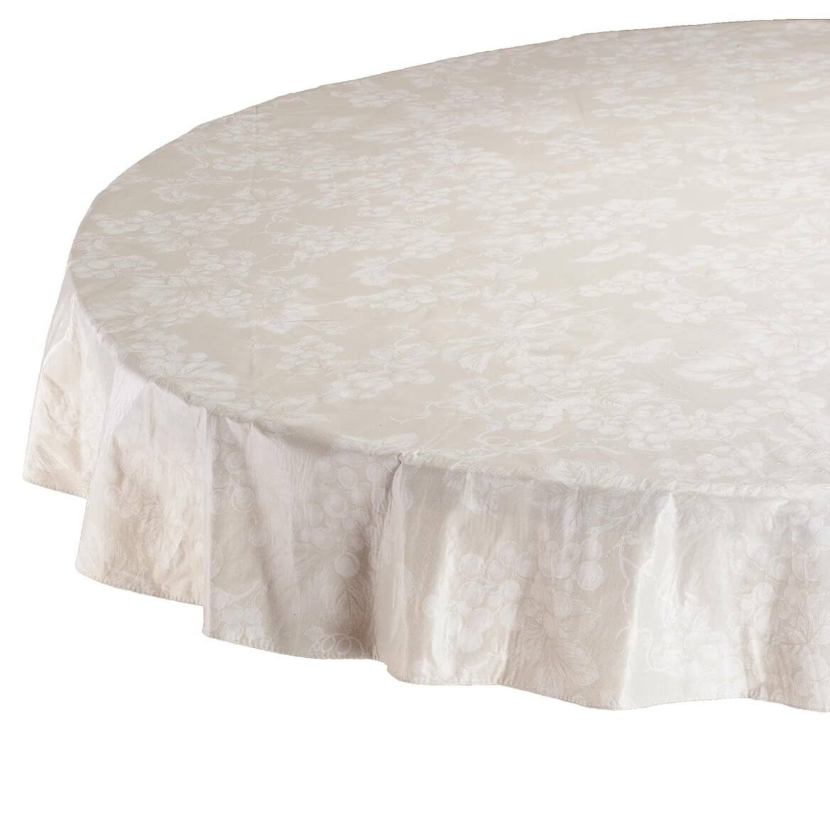 "Ivory Grapevine Vinyl Tablecloth (70"" Round)"