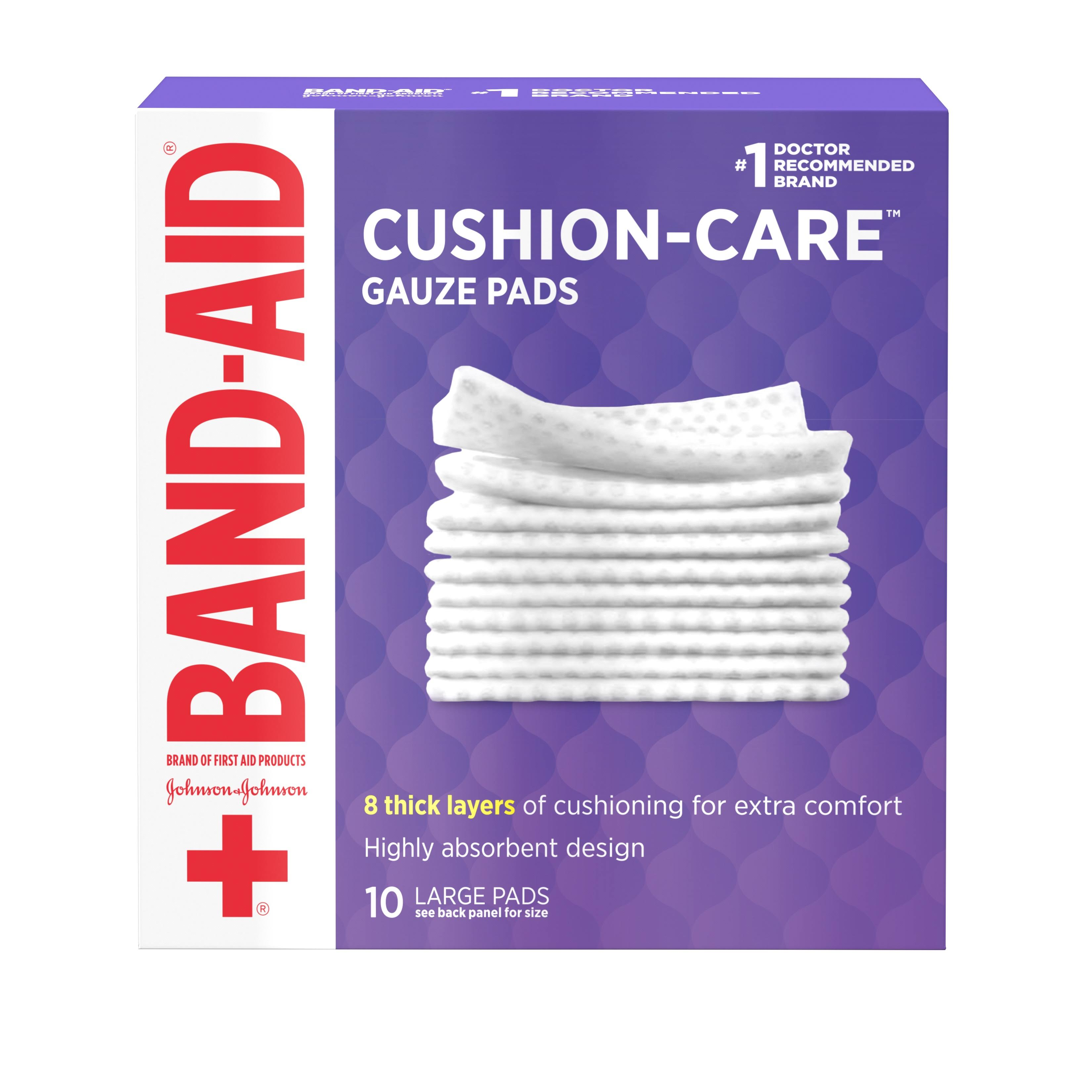 Band-Aid First Aid Gauze Pads - Small, 10x10cm, 10 Pads