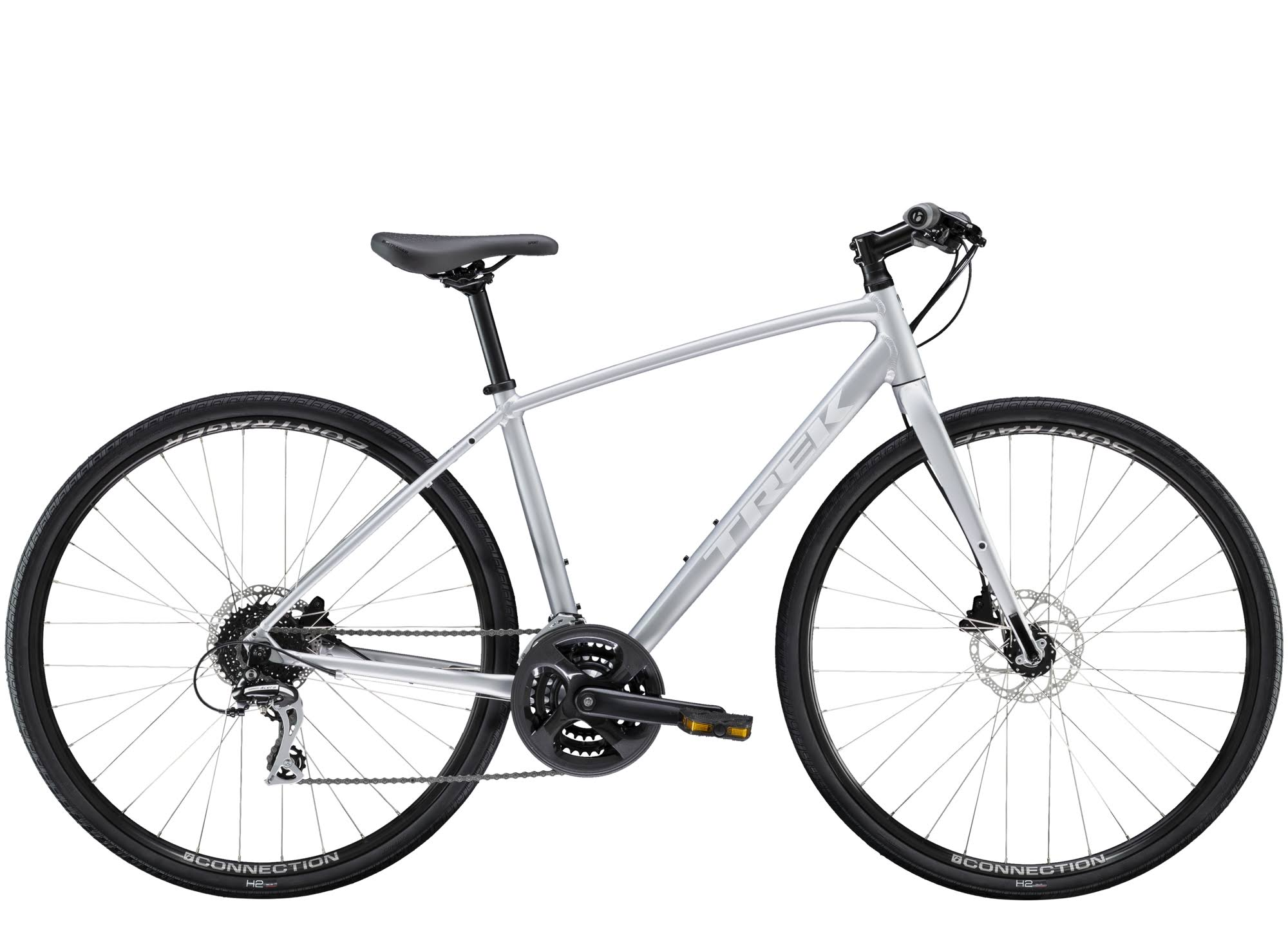 Trek FX 2 Disc 2020 Womens Hybrid Bike Quicksilver