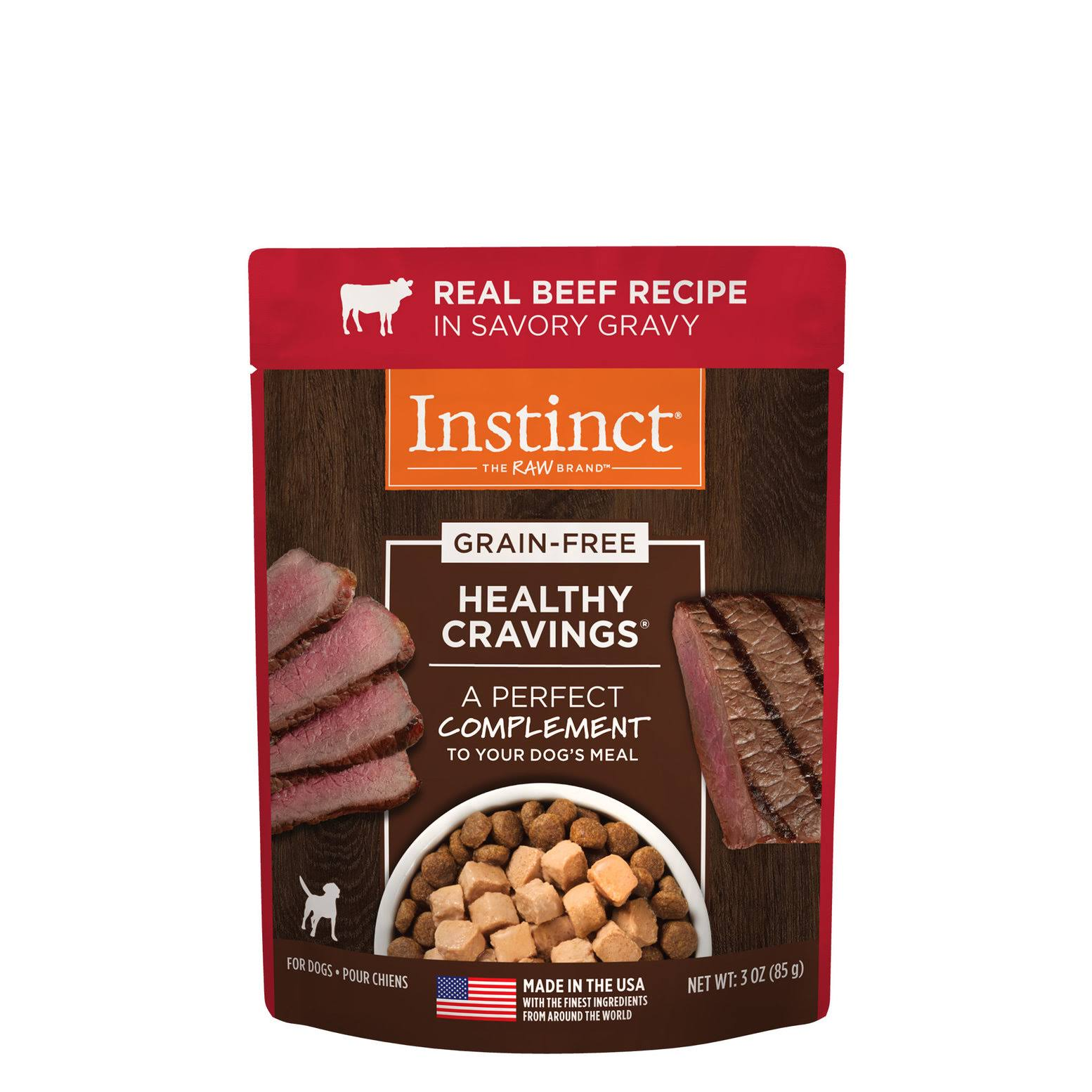 Nature's Variety Instinct Healthy Cravings Grain Free Meal Topper - Tender Beef Recipe, 3oz