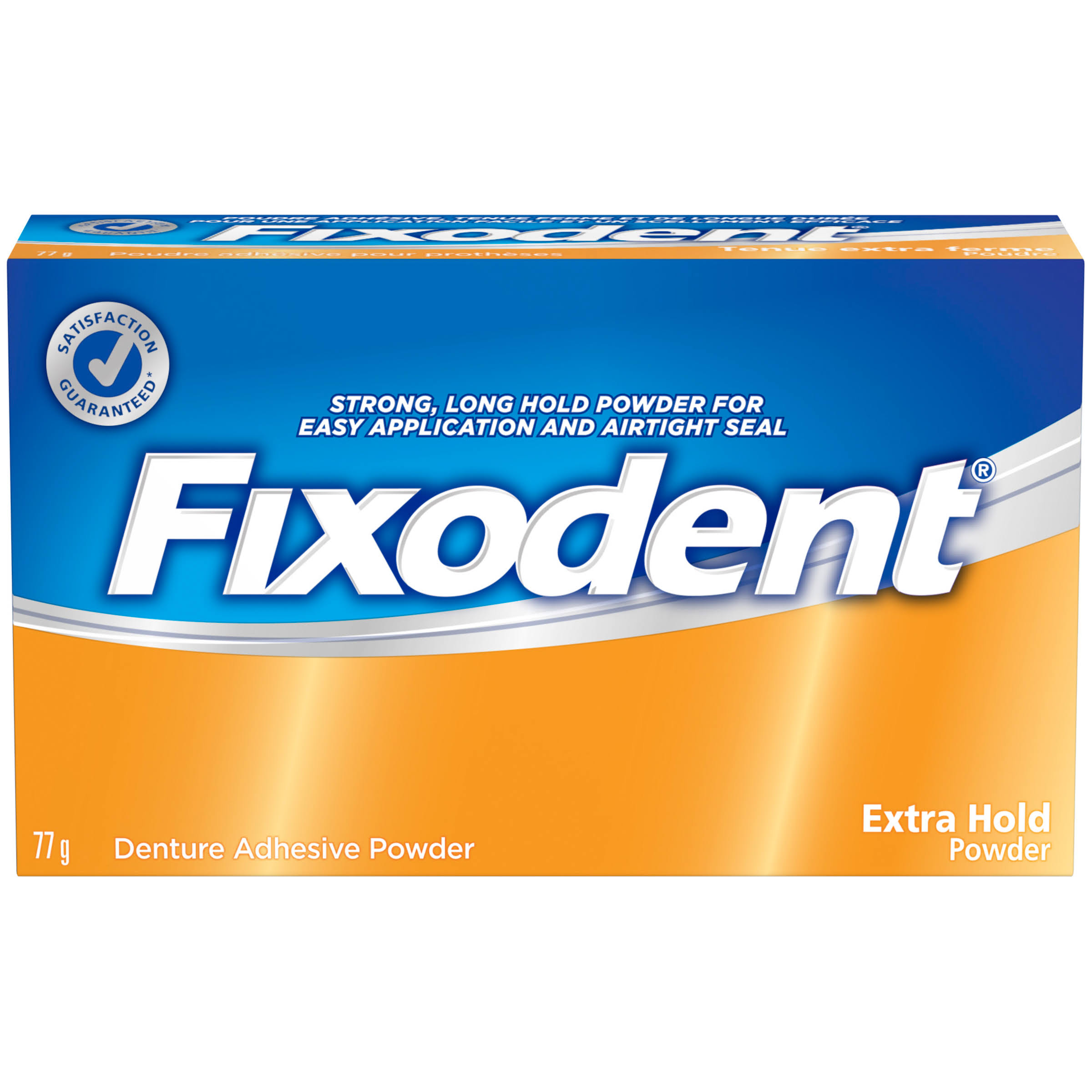 Fixodent Denture Adhesive Powder - Extra Hold, 77g