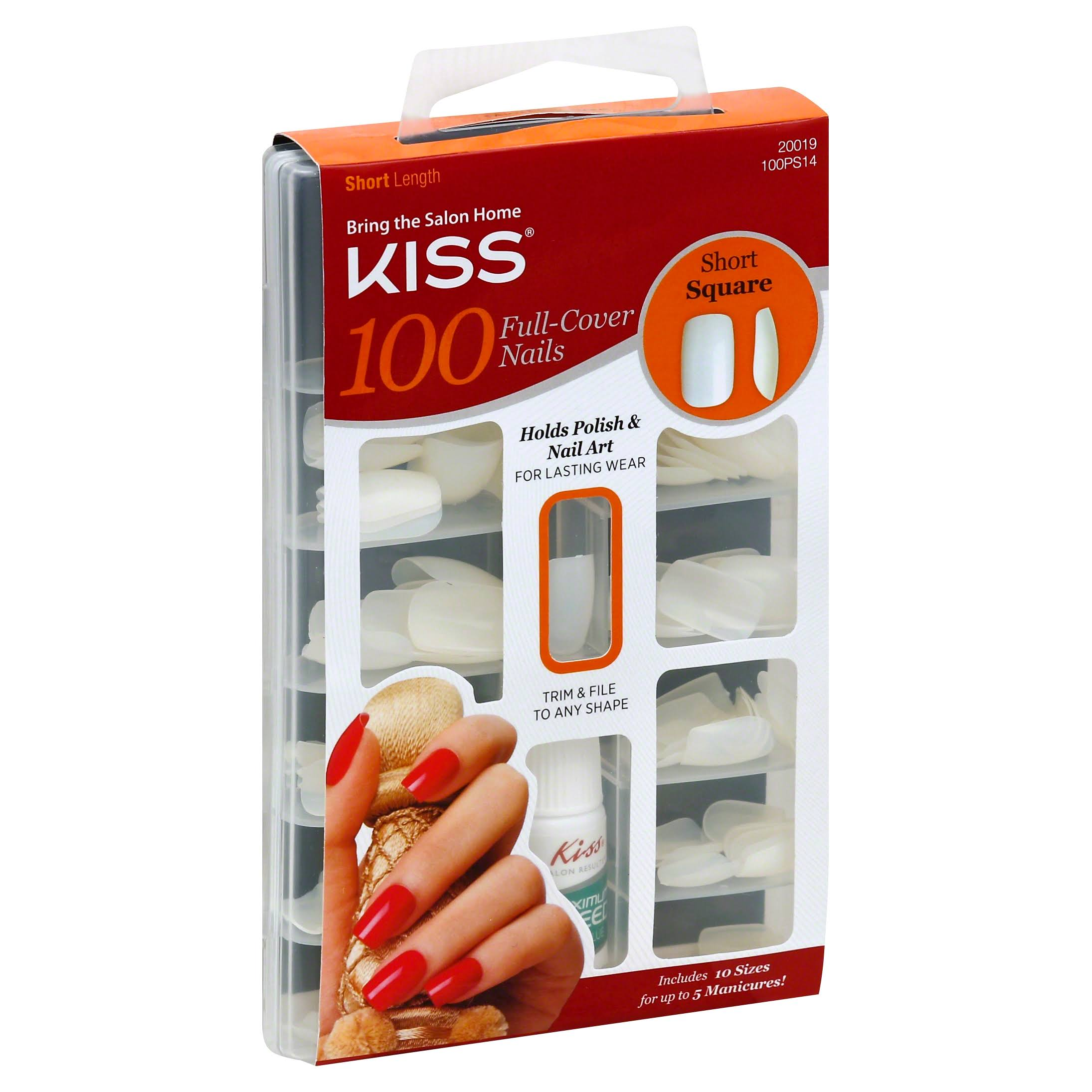 Kiss Nails - 100 Full Cover Nails, Short Square