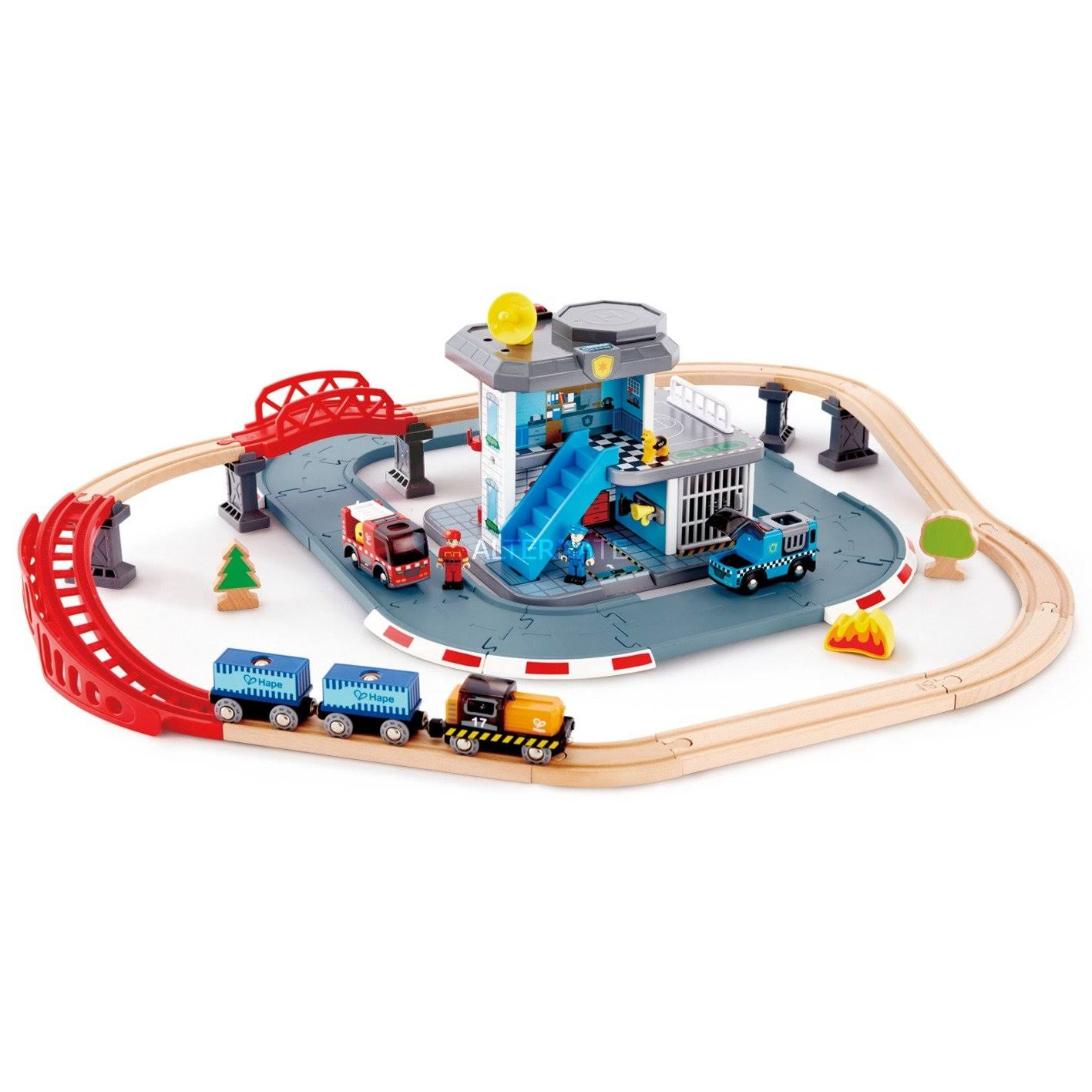 Hape Emergency Services HQ Railway Set
