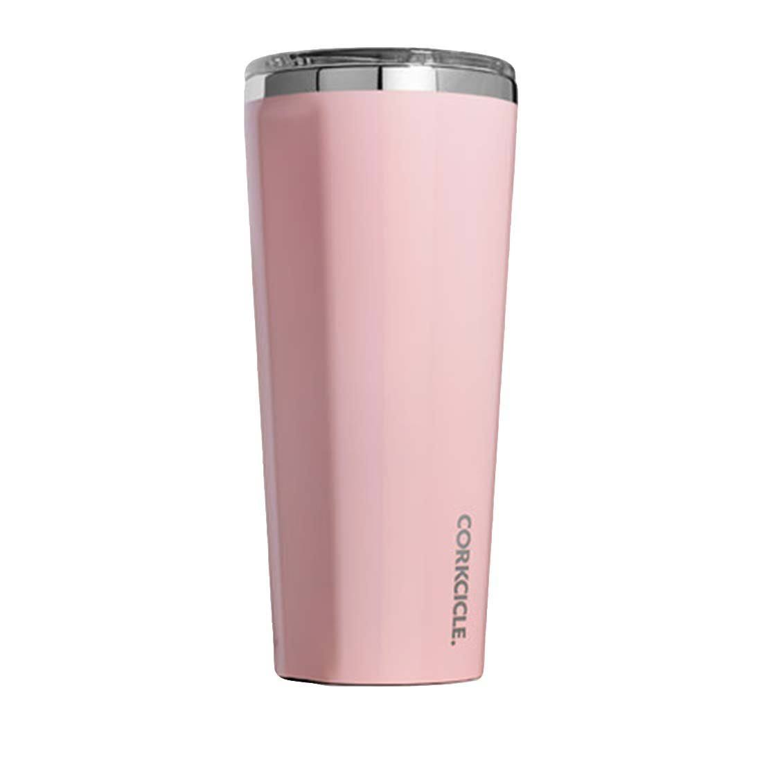 Corkcicle Tumbler Insulated Stainless Steel Bottle Thermos - 24oz, Rose Quartz