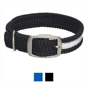 Mendota Pet Double Braid Dog Collar - Black, 21""