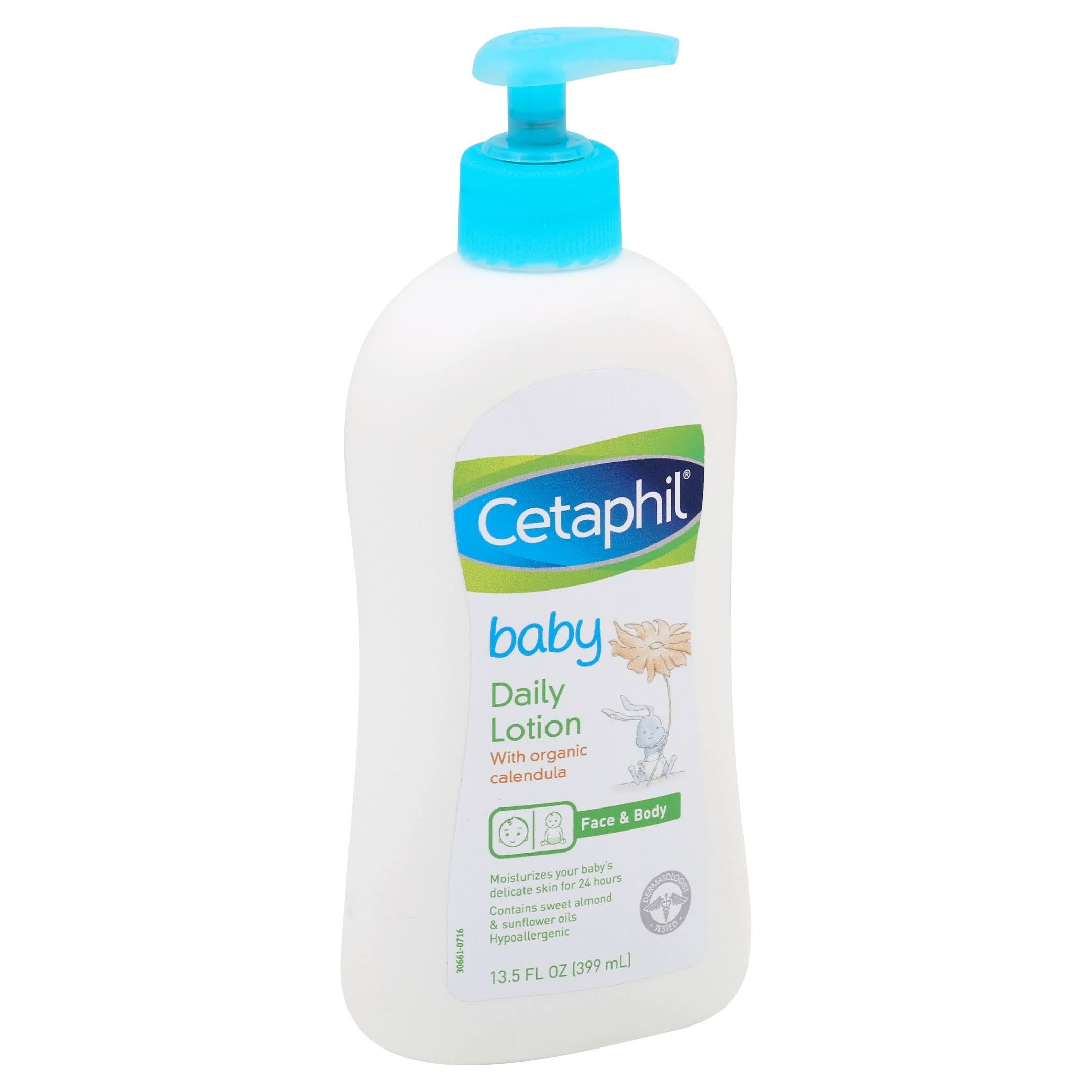Cetaphil Baby Daily Lotion with Organic Calendula - Sweet Almond Oil and Sunflower Oil, 400ml