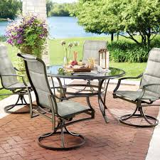 Replace Patio Sling Chair Fabric by Hampton Bay Statesville 5 Piece Padded Sling Patio Dining Set With