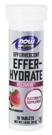 Now Foods Effer-Hydrate Effervescent Orange Strawberry - 10 Tablet