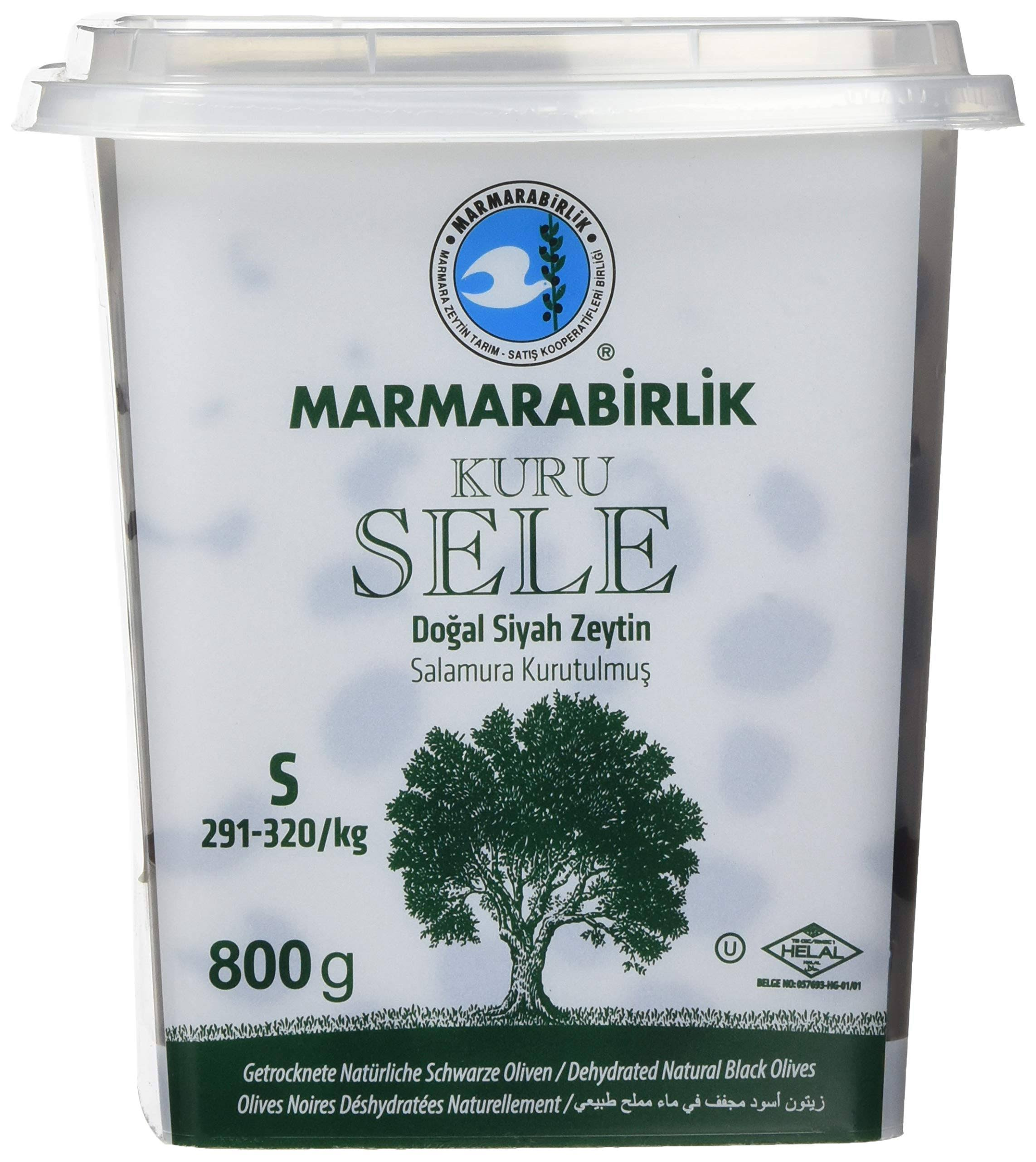 Marmarabirlik Dried Sele Large Black Olives 1