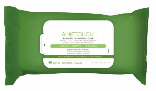 Medline Aloetouch Personal Cleansing Wipes - 48pcs