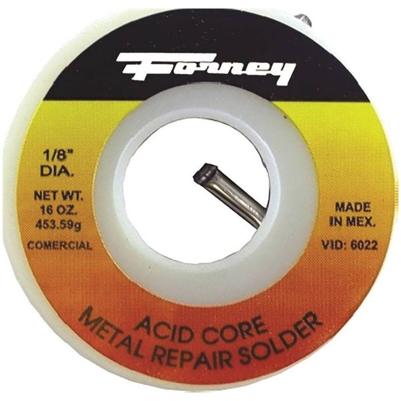 "Forney 38103 Acid Core Solder Wire - 1/8"", 1/4lb, 40/60 Tin, 60 Lead"