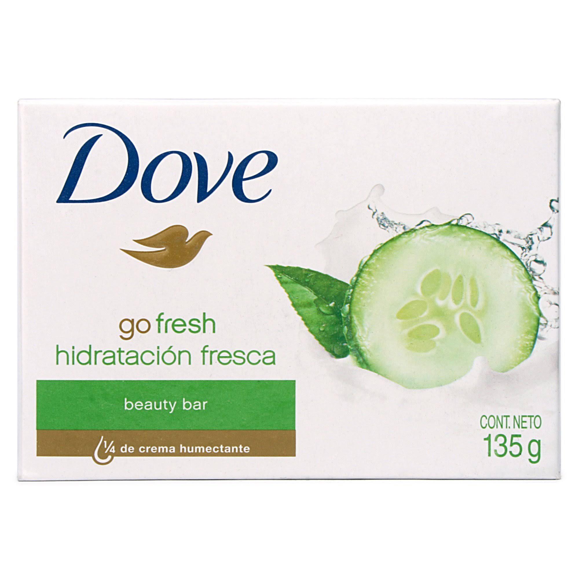 Dove Go Fresh Moisturising Beauty Soap Bar - Cucumber, 135g