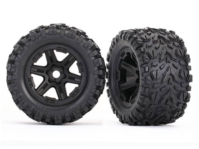 "Traxxas 8672 Wheels with Talon EXT Tires, 3.8"", Black"