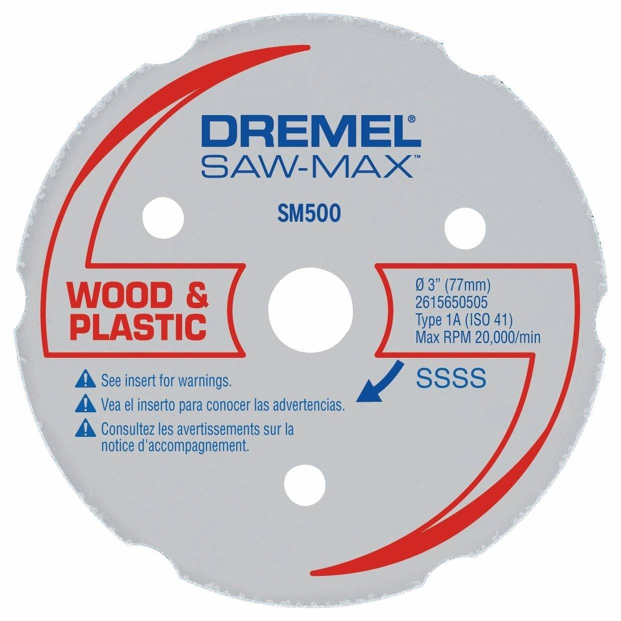 Dremel - 3 In. Saw-Max Wood & Plastic Carbide Wheel